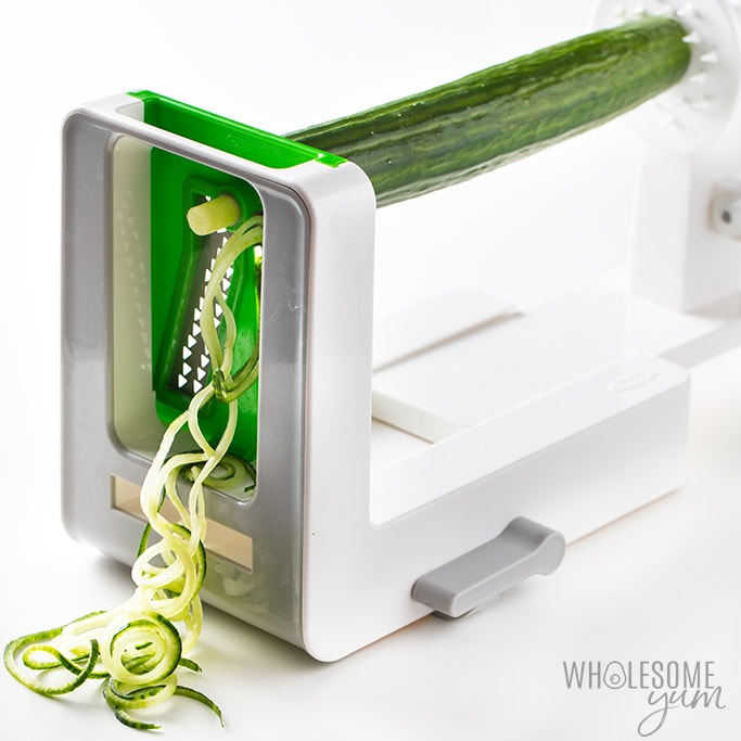 how to make cucumber noodles with a spiralizer