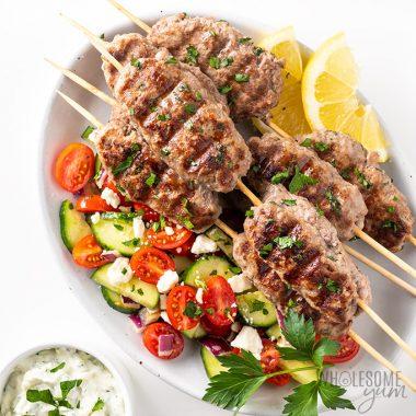 Grilled Ground Lamb Kofta Kebab Recipe