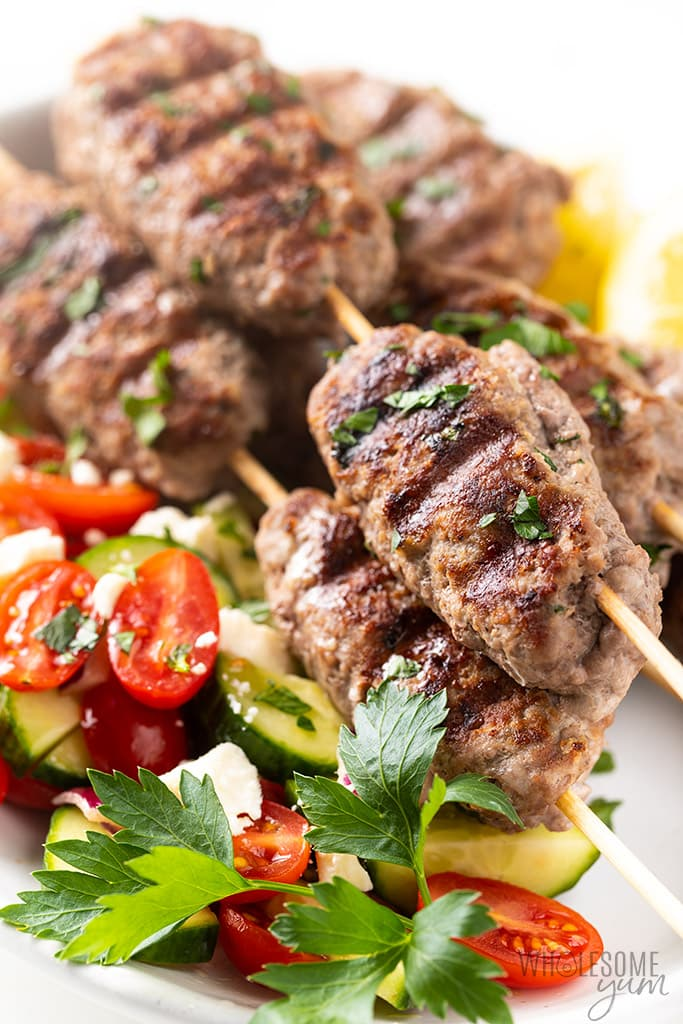 Grilled Ground Lamb Kofta Kebab Recipe Wholesome Yum