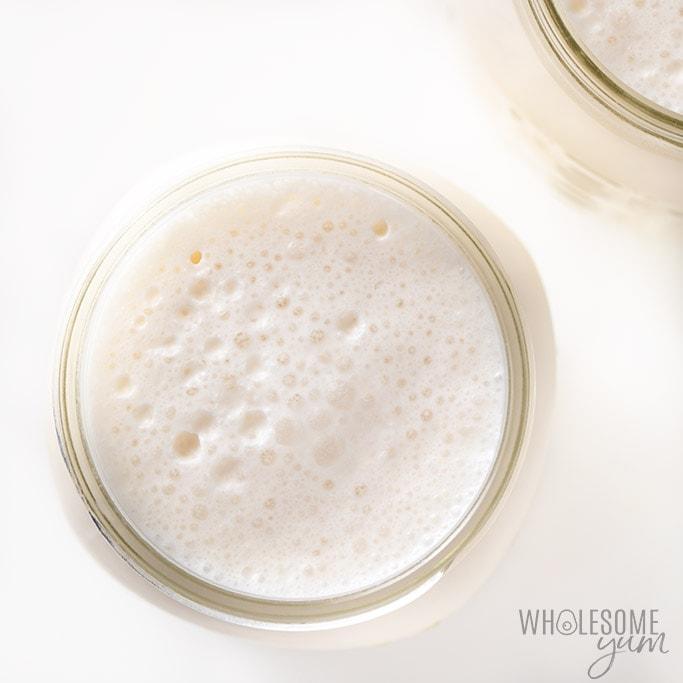 overhead shot keto milkshake recipe