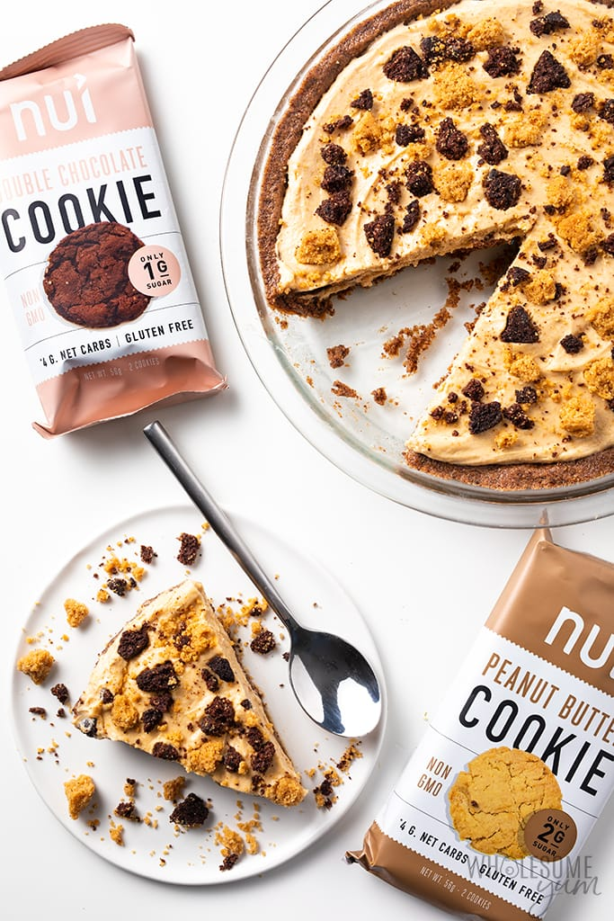 frozen peanut butter pie with nui cookies