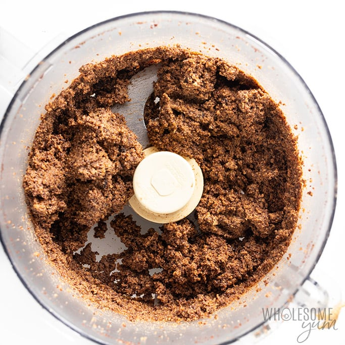 low carb peanut butter pie crust in food processor