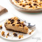 slice of low carb peanut butter pie