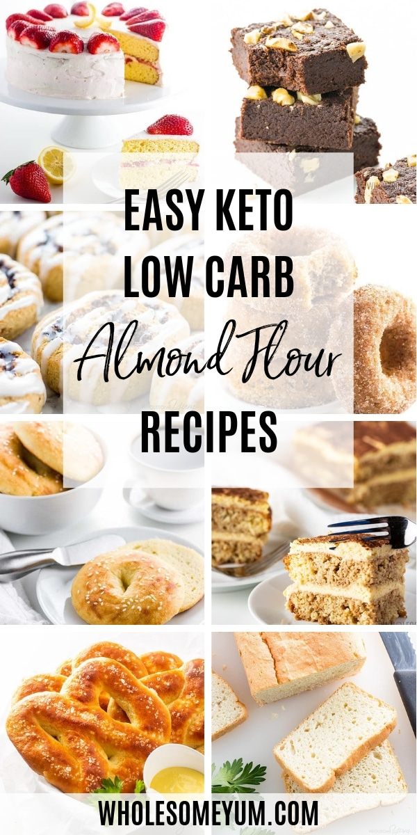 All the best low carb almond flour recipes are here! You can use it for breads, desserts, breading meat, and more. These easy keto almond flour recipes will be your favorites.