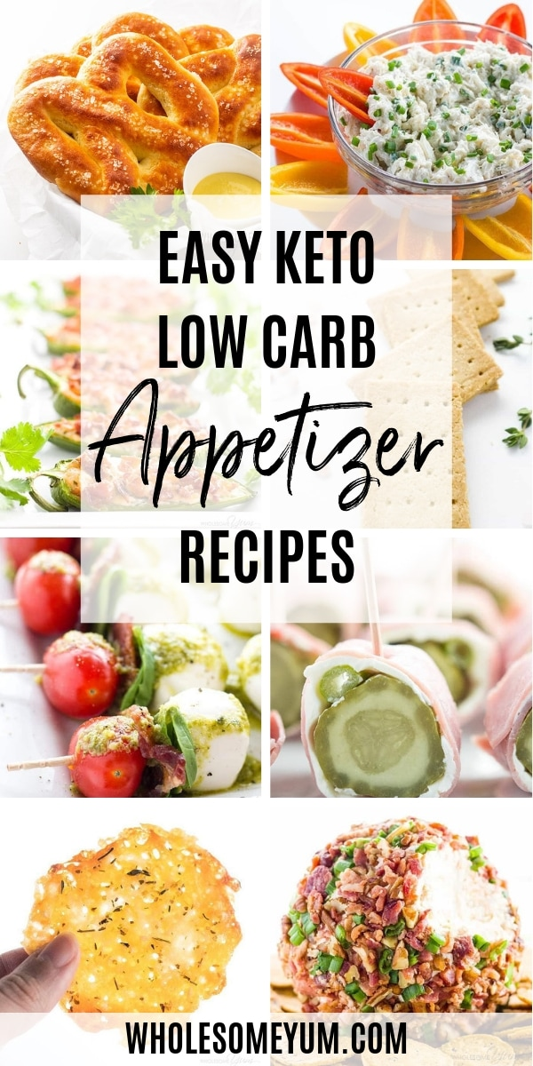Easy low carb appetizers can mean many different things! They can be anything from dips to cute little bites to general finger food. No matter what kind of keto appetizer recipes you are looking for, you will find lots of them here.