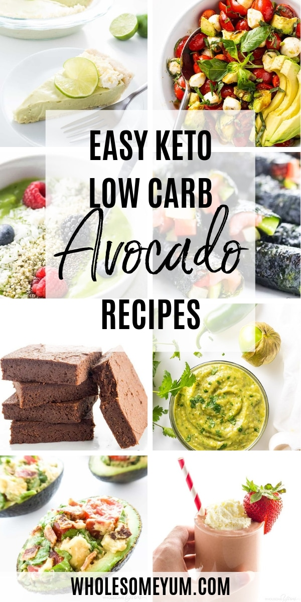 All the best low carb avocado recipes! Avocado is naturally low carb and high fat, which makes keto avocado recipes perfect for a low carb or keto lifestyle. Not to mention delicious!