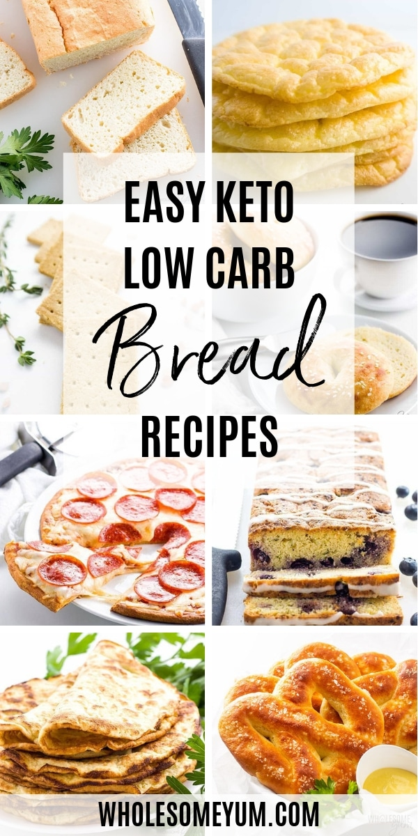 These are the best recipes for how to make low carb bread. Here you'll find everything from bagels and fathead dough to tortillas and pizza crust. You're going to love these keto bread recipes!