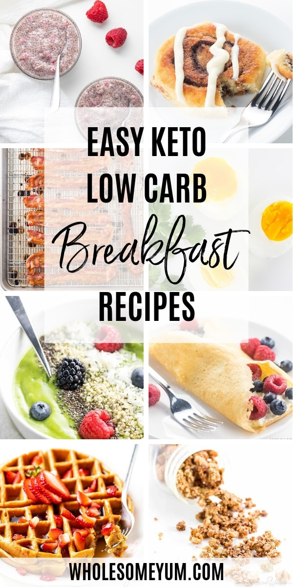 Start your day off right with the best low carb breakfast recipes out there! Here you'll find plenty of keto breakfast options like fathead bagels, ways to cook eggs, paleo pancakes and waffles, low carb smoothies, and much more.