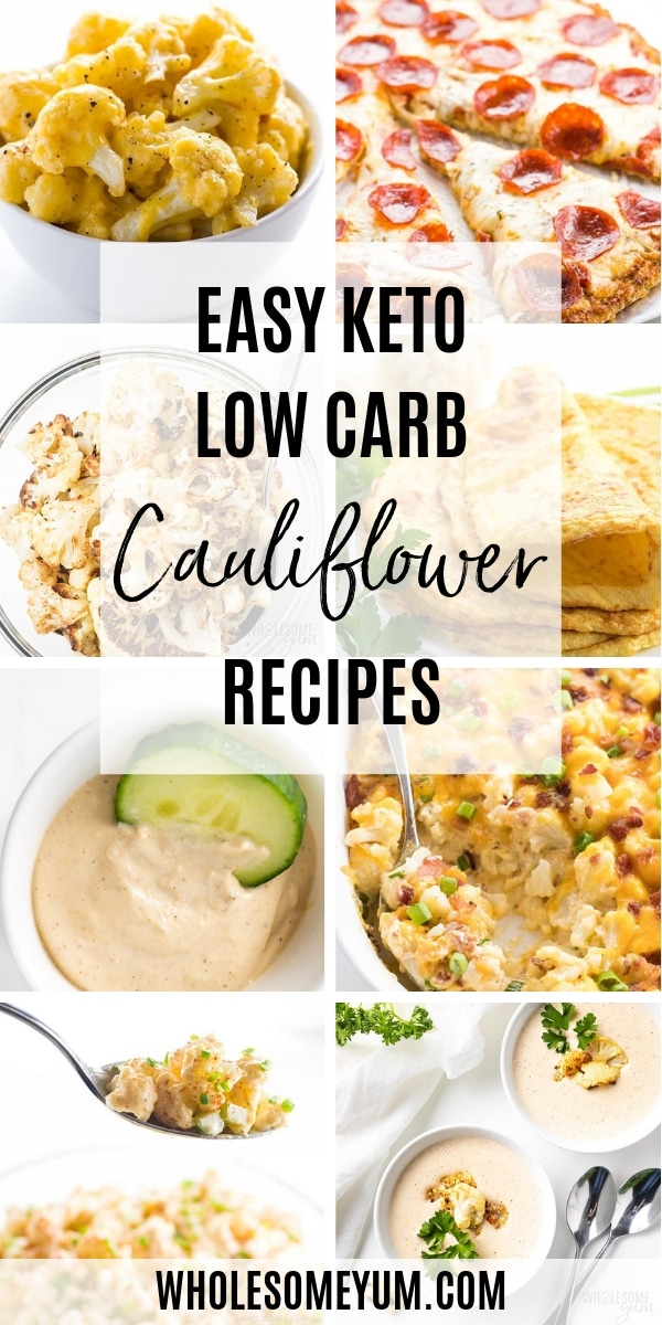 All the best low carb cauliflower recipes in one place! If you want to reduce carbs without missing comfort food, these keto cauliflower recipes are for you.