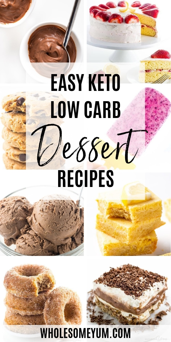 Having options for low carb dessert recipes can help you stay on track with your healthy lifestyle. These easy keto dessert recipes will satisfy your craving, be it cheesecake, cookies, chocolate, cake, or ice cream, among others.