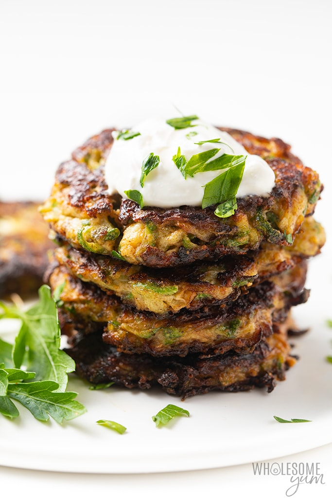 stack of Italian zucchini fritters
