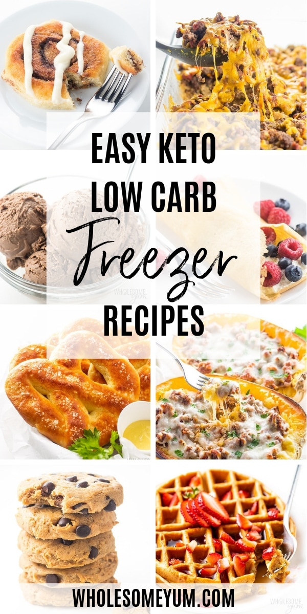 Easy low carb freezer recipes are the best! You can make a big batch at a time and have keto freezer meals - or even desserts - ready whenever you need them.