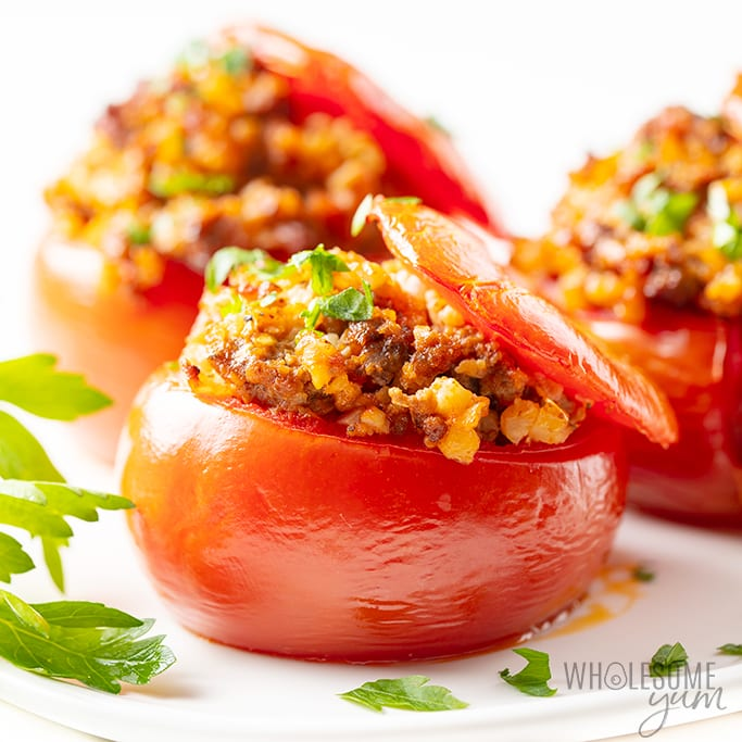Gemista: Baked Greek Stuffed Tomatoes Recipe