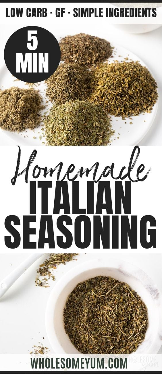 How to Make Italian Seasoning Mix - Pinterest image