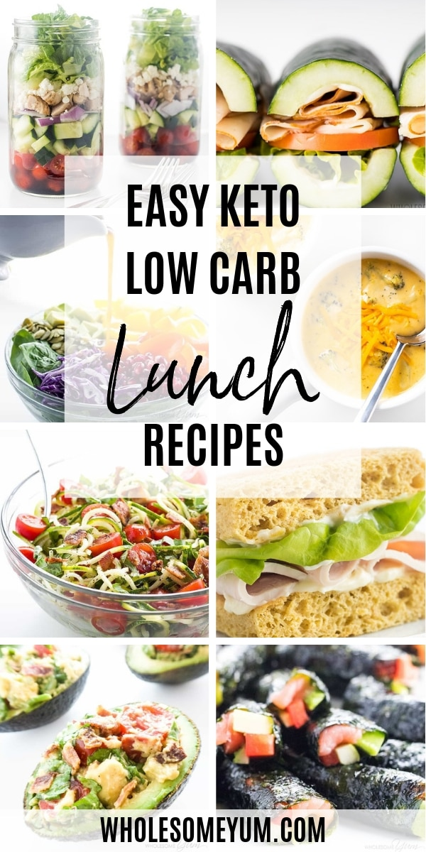 When it comes to low carb lunch recipes, quick and easy is a must! These easy keto lunch recipes range from simple make-ahead dishes to meals you can throw together quickly.