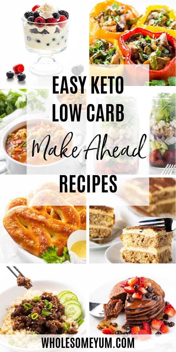 Easy Low carb meal prep recipes can be made in advance, which saves so much time and stress. It can make a huge difference in your success. From make ahead breakfast to dinner to dessert, and everything in between, this is the place for keto meal prep recipes.
