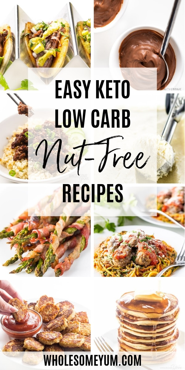 If you or a family member have a nut allergy, this section of nut-free keto recipes can help. Everything here is either naturally nut-free, or has an easy nut-free option to make it that way. There are lots of nut-free options for low carb recipes, so you don't have to miss out!