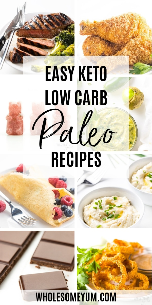 Even though Wholesome Yum is a low carb blog, we have a strong focus on paleo keto recipes! Here you'll find lots of delicious options for easy paleo low carb recipes to try, including dinners, lunches, breakfasts, and even desserts.