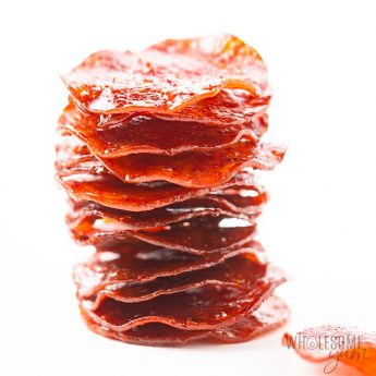 keto pepperoni chips in a stack