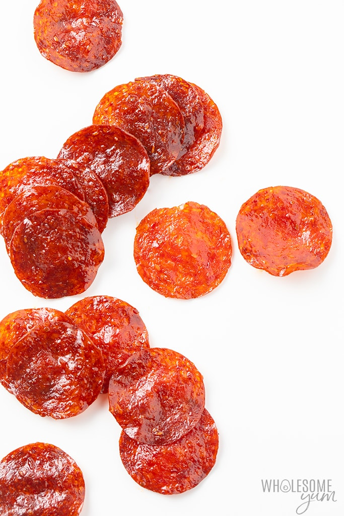 baked pepperoni chips