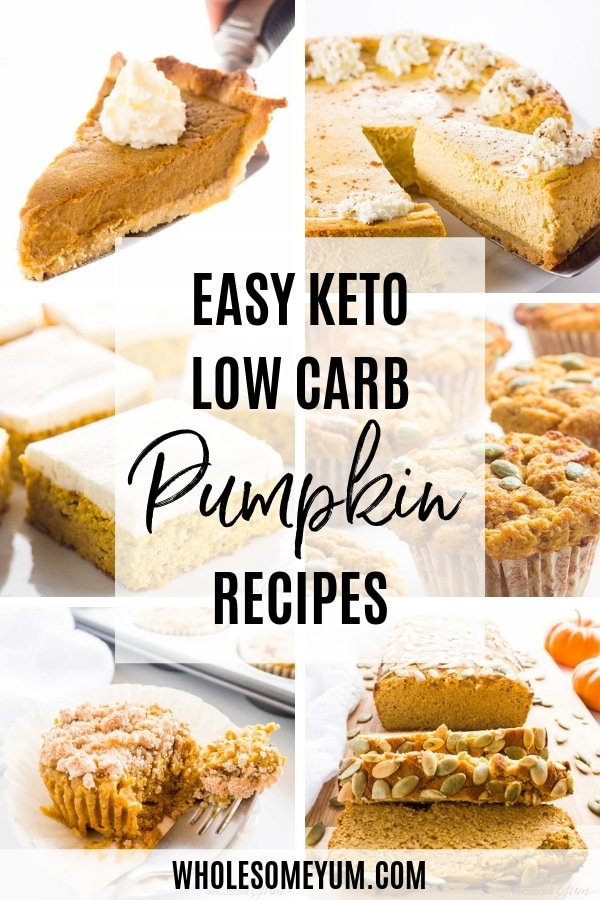 Nothing beats the best low carb pumpkin recipes in the fall! These keto pumpkin recipes will warm the heart and bring in all the holiday vibes.