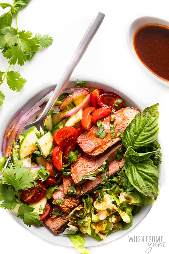 bowl of spicy beef salad