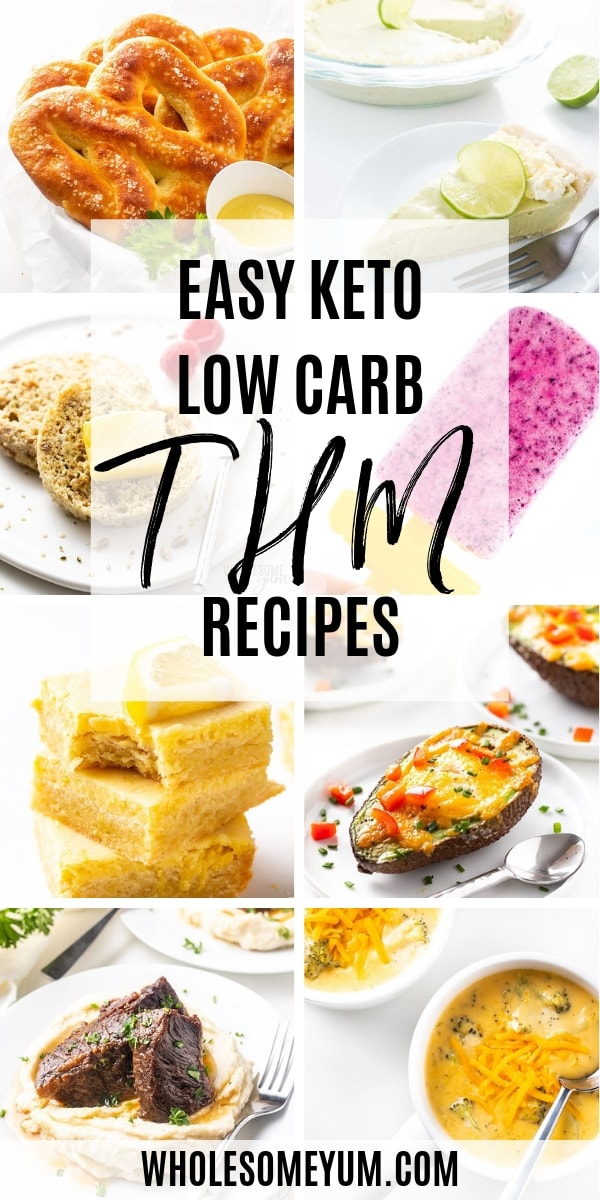 Are you looking for easy Trim Healthy Mama recipes? You've come to the right place. Wholesome Yum is a low carb blog, and you'll find all the best THM recipes for S meals, including Trim Healthy Mama dinners, lunches, breakfasts and desserts.