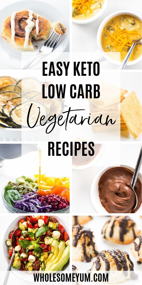 Easy Keto Low Carb Vegetarian Recipes Wholesome Yum