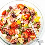 chopped antipasto salad in bowl