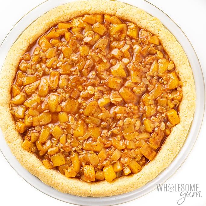 keto apple pie filling in crust