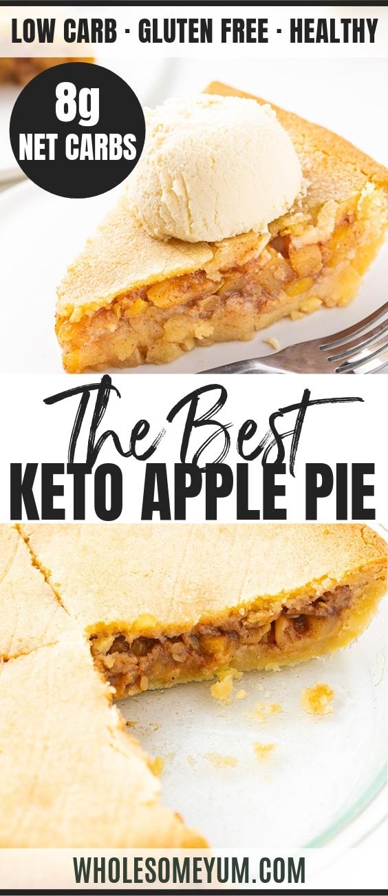 Keto Apple Pie Recipe - Pinterest Image