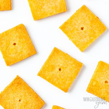 Low Carb Keto Cheese Crackers Recipe