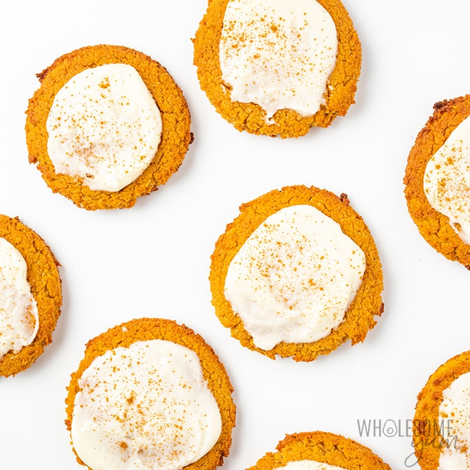 glazed keto pumpkin cookies
