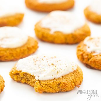 keto pumpkin cookies with icing