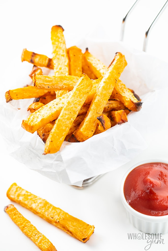 low carb fries with ketchup