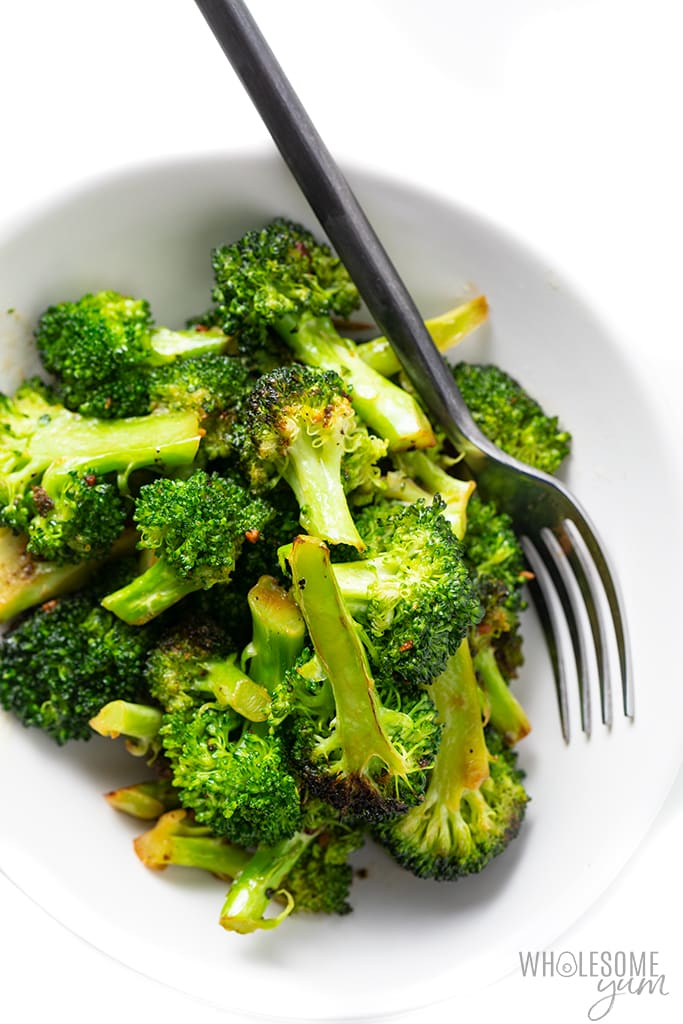 pan fried broccoli in a bowl