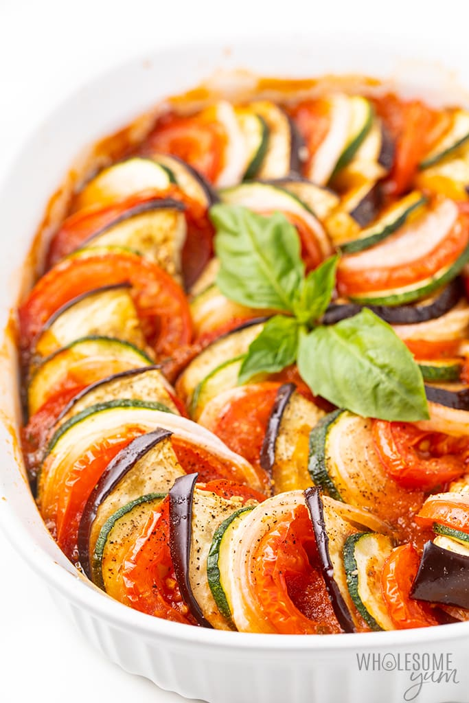 baked ratatouille in dish