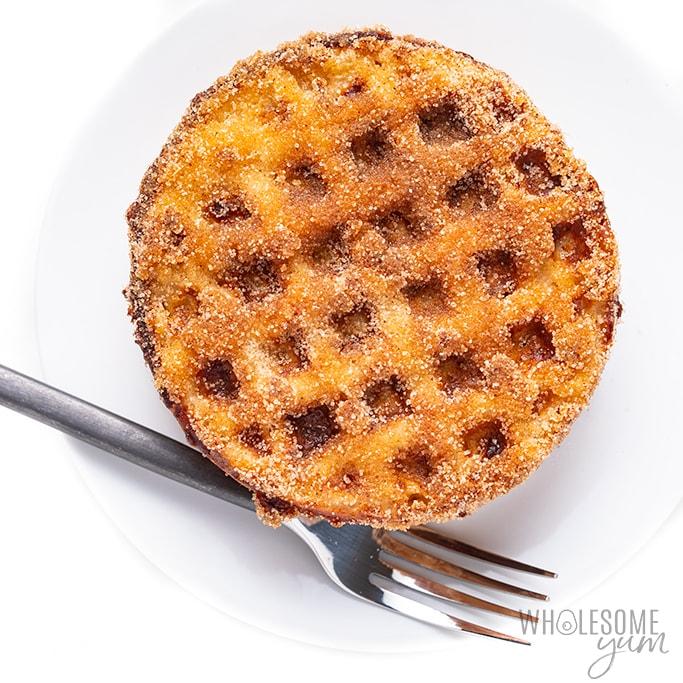 sweet chaffle - churro cinnamon sugar