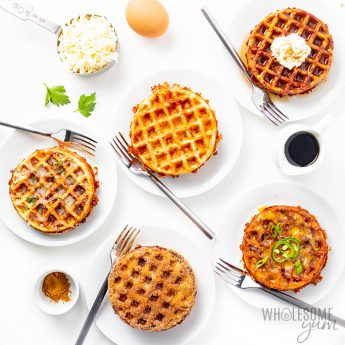 5 sweet and savory chaffles recipes