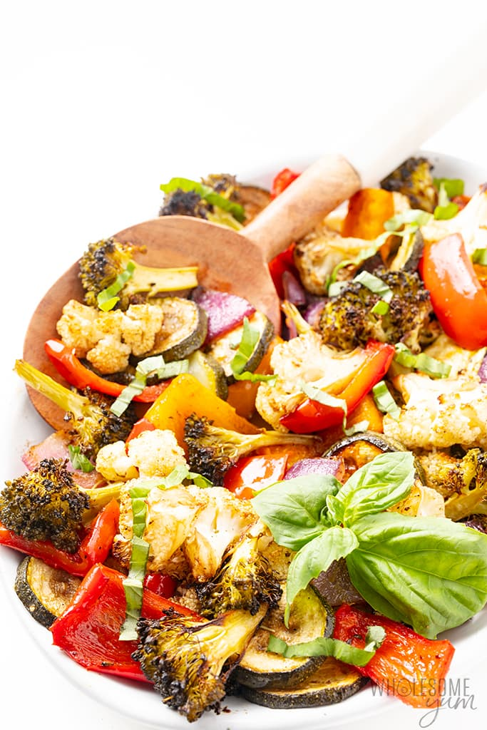 bowl of roasted vegetables
