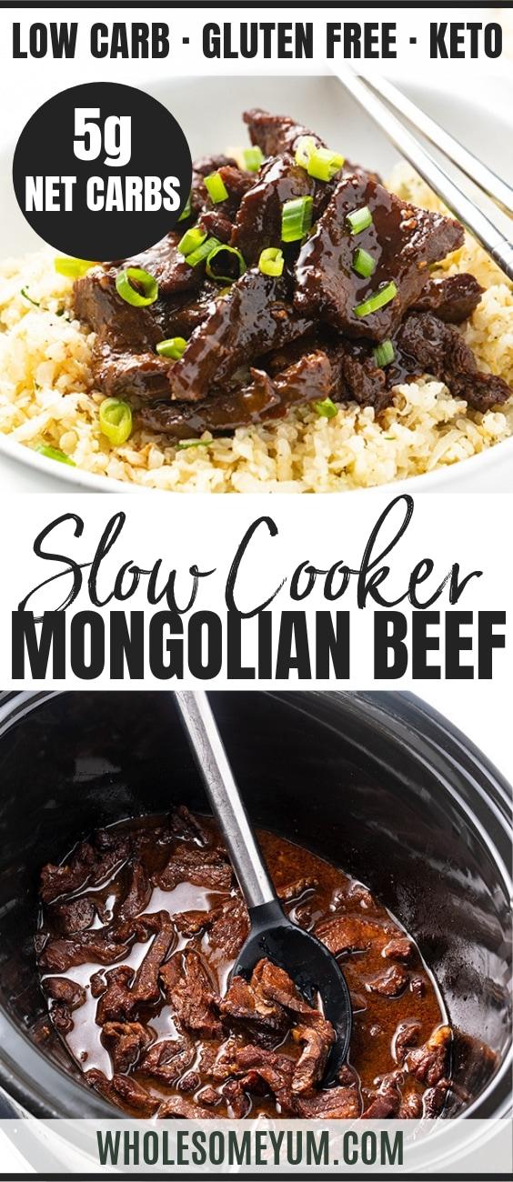 Keto Mongolian Beef - Pinterest Image