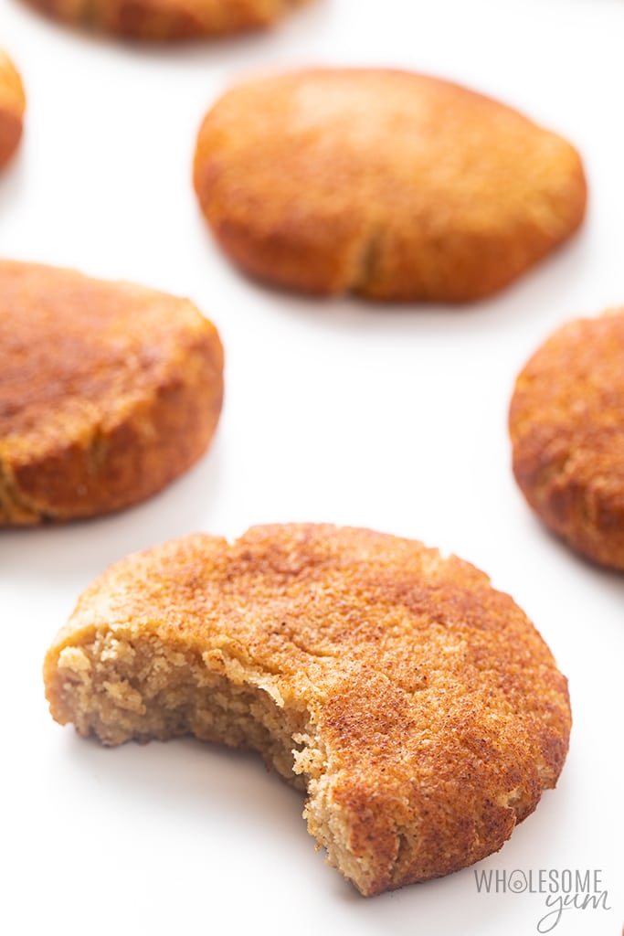 bite out of a snickerdoodle