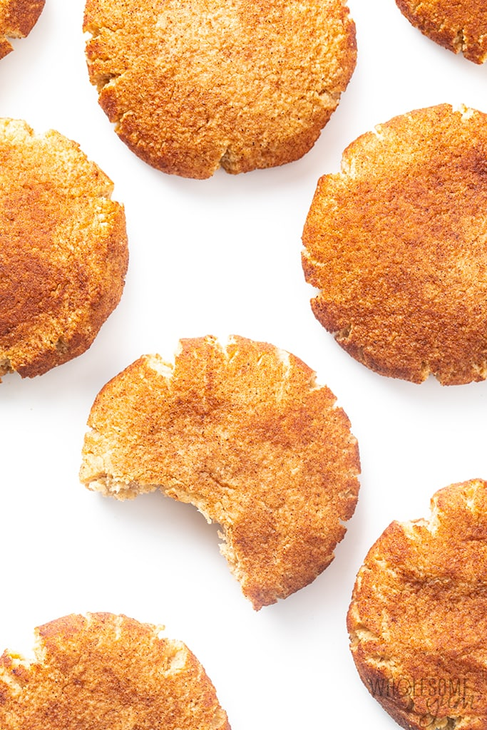 bite out of a low carb snickerdoodles