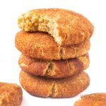 keto snickerdoodles in a stack