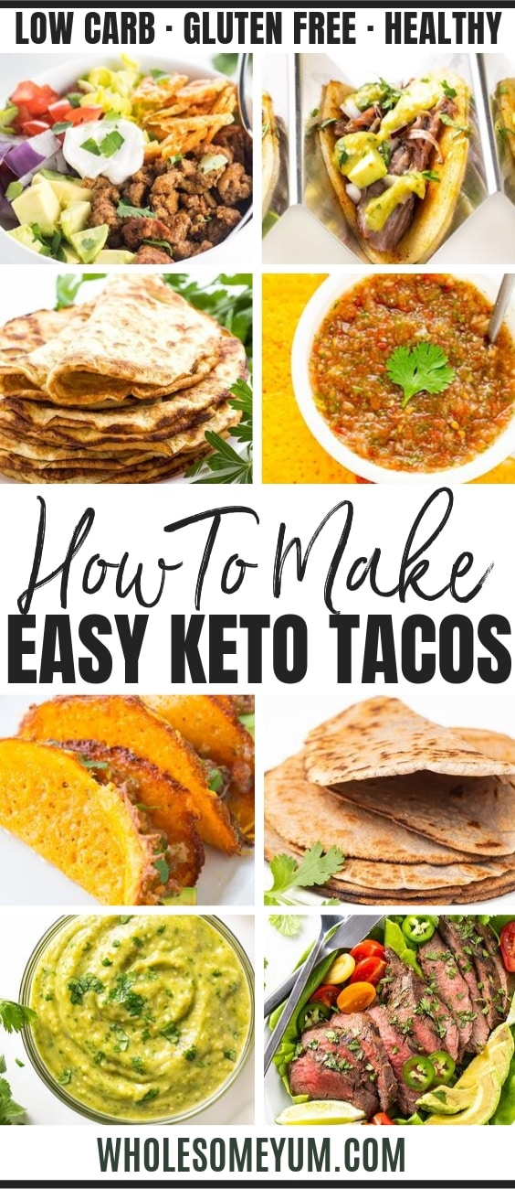 Low Carb Keto Tacos: The Ultimate Guide - Pinterest Image