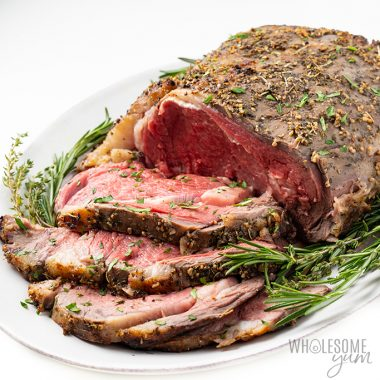 perfect prime rib roast slices