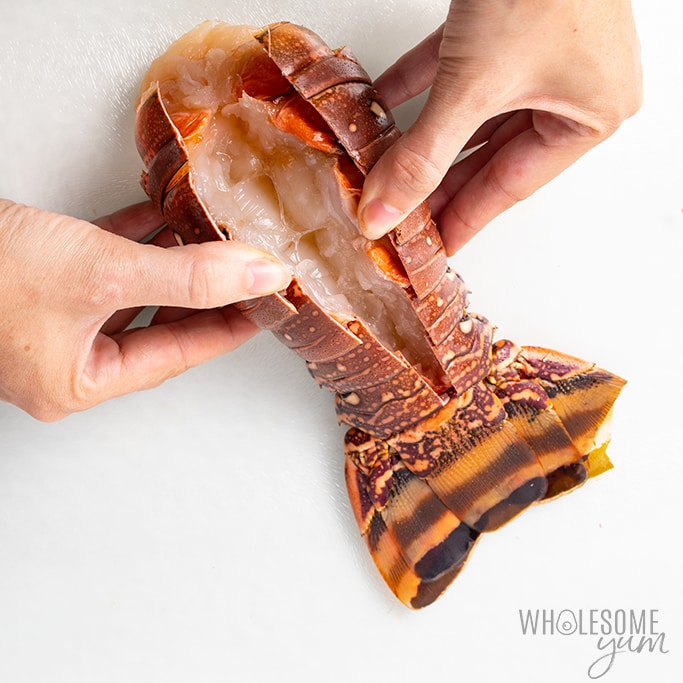how to pull out lobster from shell