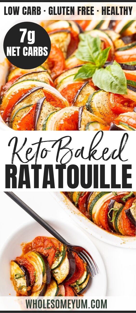 The Best Easy Baked Ratatouille Recipe - Pinterest Image