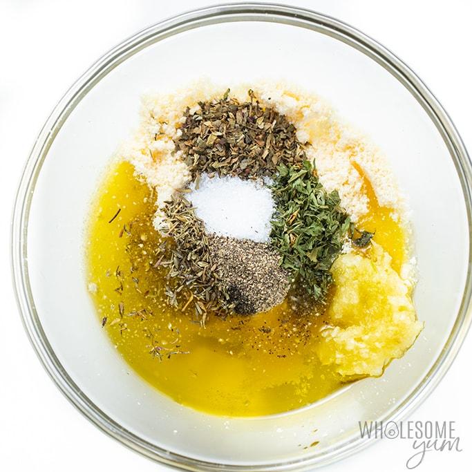 sauce for garlic parmesan roasted cauliflower