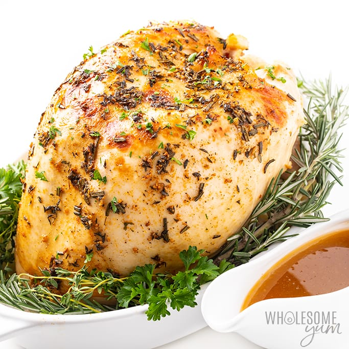 Crock Pot Slow Cooker Turkey Breast Recipe Wholesome Yum